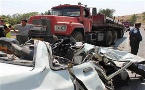 تصادف اتوبوس و تریلی 2 کشته به جا گذاشت