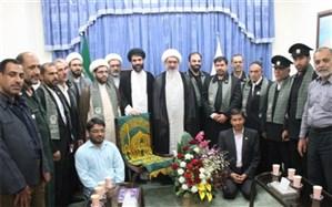دیدار خدام آستان قدس رضوی با نماینده ولی فقیه در استان بوشهر