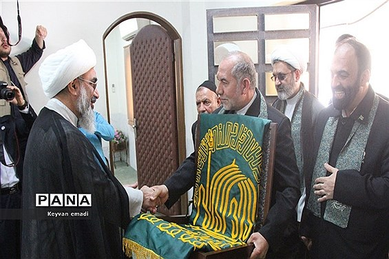 مراسم استقبال از خدام امام رضا در فرودگاه  بوشهر و دفتر نماینده ولی فقیه و امام جمعه بوشهر