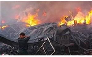 2 کشته و یک مجروح در آتش سوزی کارخانه پویان صنعت شهرستان خمین
