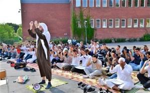 تصاویر/ برگزاری نماز باران در استکهلم سوئد
