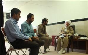 دیدار رئیس سازمان دانش آموزی استان با امام جمعه همدان