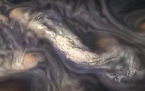 عکس ابرهای اطراف سیاره مشتری منتشر شد