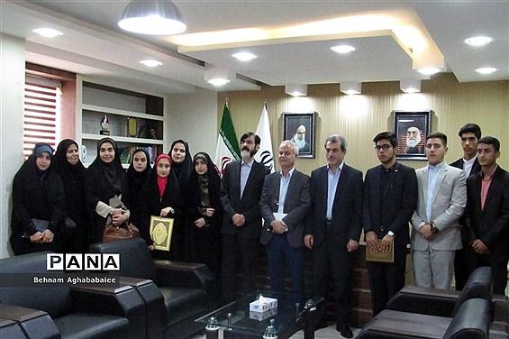 دیدار نمایندگان مجلس و مجمع دانش آموزی خوزستان با مدیرکل آموزش و پرورش و استاندار
