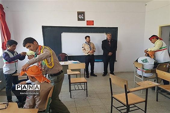 بازدید رئیس سازمان دانش آموزی استان خراسان جنوبی از کمپین اردو انتخابی  پیشتازان پسر  برای اردوملی 97