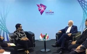 دیدار وزیران امور خارجه ایران و اندونزی در سنگاپور
