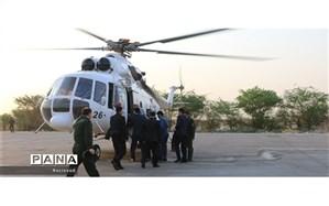 بازدید هوایی رئیس سازمان حفاظت از محیط زیست کشور و استاندار خوزستان از وضعیت آتش سوزی هورالعظیم