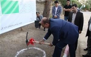کلنگ احداث شهرک اردوگاهی در اردوگاه شهید سلیمان خاطر سنندج بر زمین زده شد