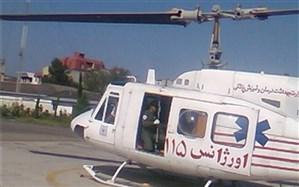 انتقال ۱۲۶۴ نفر با بالگرد اوژانس هوایی در استانهای سیلزده