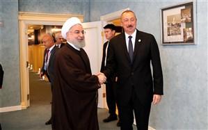 روحانی: روابط تهران- باکو دوستانه، بردارانه و روبه گسترش است