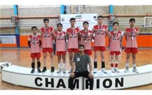 نایب قهرمانی تیم والیبال پسران آموزشگاه فجر ساوه در رقابت های کشوری