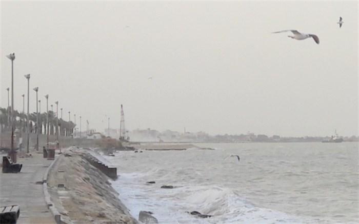 ارتفاع موج در دریا بوشهر