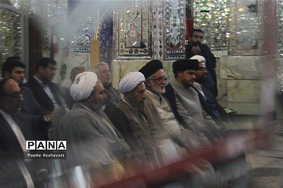 مراسم اهدا نذورات مردم شیراز به ستاد بازسازی عتبات عالیات