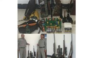 دستگیری باند 7 نفره شکارچیان غیرمجاز در پاسارگاد