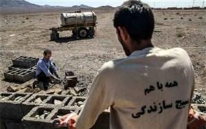 خدمات رسانی گروههای جهادی رزمایش محمد رسول الله (ص) به مناطق محروم و حاشیه شهر قاین