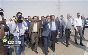 وزیر راه و شهرسازی از جاده ماهشهرهندیجان بازدید کرد