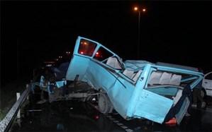 سه کشته و 24 مجروح در برخورد مینی بوس با پراید