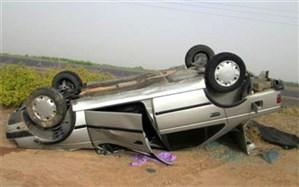 2 کشته حاصل واژگونی پژو 405  در محور ایرانشهر-بم