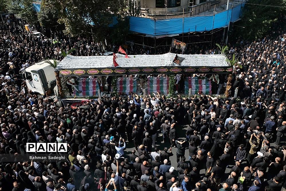 مراسم تشییع پیکرمطهر ۱۳۵شهید گمنام دفاع مقدس