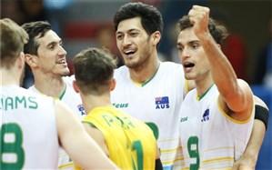 والیبال قهرمانی آسیا؛ استرالیا با زحمت به نیمه نهایی رسید