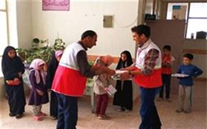 برگزاری طرح ارمغان مهر در مدارس روستاهای سرایان