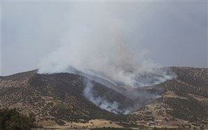 تلاش برای مهار آتشسوزی در منطقه درازنوی شهرستان کردکوی ادامه دارد