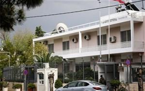 لحظه حمله به سفارت ایران در یونان