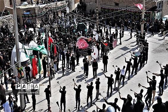 مراسم عزاداری روز عاشورای حسینی در روستای براندود شهرستان درمیان