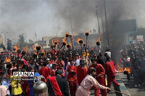 آیین خیمه سوزی در شیراز
