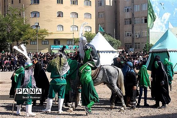 مراسم شبیه خوانی  در محله شنب قازان تبریز