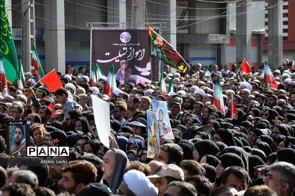 تشییع پیکر شهدای حادثه تروریستی اهواز