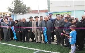 اولین زمین چمن مصنوعی آموزش و پرورش شهرستان مینودشت افتتاح شد