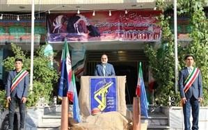 برگزاری صبحگاه مشترک کمیته هماهنگی و پشتیبانی بسیج فرهنگیان و دانشآموزی ناحیه 2 مشهد