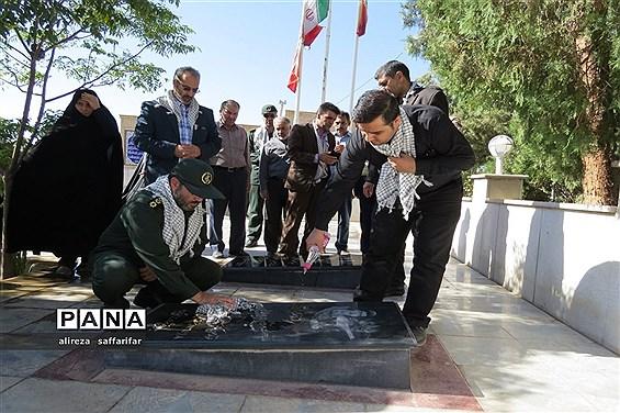 تجدید میثاق فرهنگیان اردستانی با شهدا