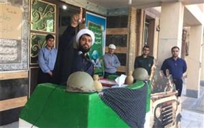 مراسم هفته دفاع مقدس  در هنرستان طالقانی شهرستان بوشهر برگزار شد