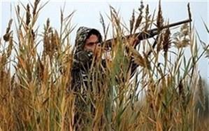  کشف و ضبط دو قبضه اسلحه و دستگیری شکارچی پرندگان در لامرد فارس