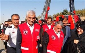 4 نردبان 64 متری به تجهیزات آتشنشانی تهران اضافه شد