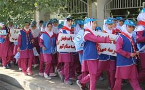 اجرای طرح روز جهانی «یک روز پیاده از خانه تا مدرسه» در شیراز