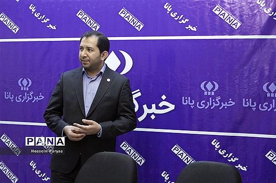 حضور شهاب الدین صابونچی، رئیس سازمان جوانان هلال احمر در خبرگزاری پانا