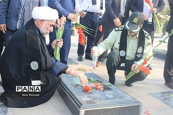 مراسم عطر افشانی گلزار شهدا، گرامیداشت هفته نیروی انتظامی  دراسلامشهر