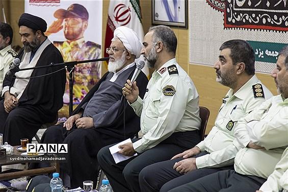 دیدار کارکنان فرماندهی انتظامی استان یزد با آیت الله ناصری