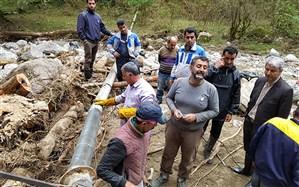 آب آشامیدنی تمامی روستاهای سیلزده مازندارن وصل شد