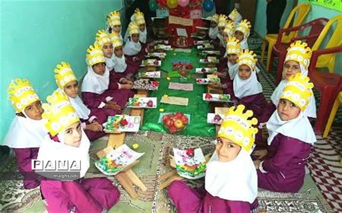 مراسم آغازین آموزش رسمی قرآن کریم به دانش آموزان پایه اول در آموزشگاه 22 بهمن شهداد