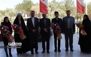استقبال از نمایندگان یزد در مجلس دانش آموزی کشور