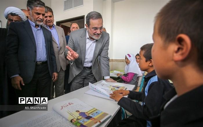 بازدید وزیر آموزش و پرورش از مدارس منطقه جوادآباد و افتتاح مدرسه اتباع