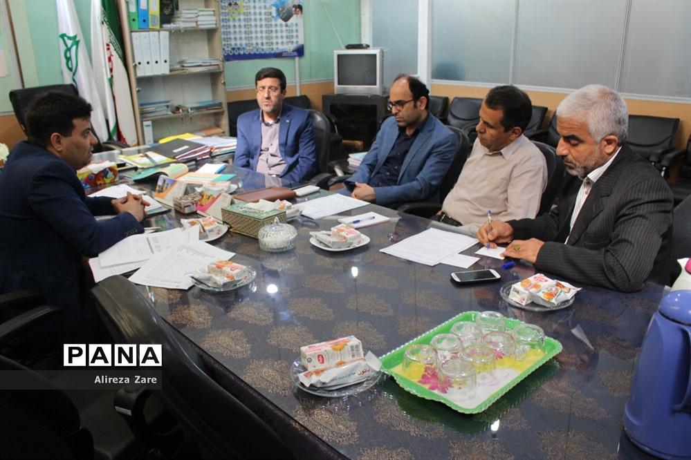 جلسه هماهنگی برگزاری دوره های مدیریت بحران  جهت دانش آموزان و فرهنگیان