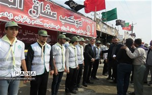 برپایی موکب سازمان دانشآموزی خوزستان در مرز شلمچه