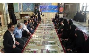 تجدید میثاق مدیر آموزش و پرورش و معلمان تربیت بدنی شهرستان سمنان با شهدا