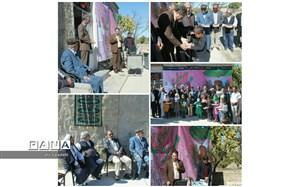 نواختن زنگ مهر مهربانی در روستای زیبای سینی نو شهرستان کلات