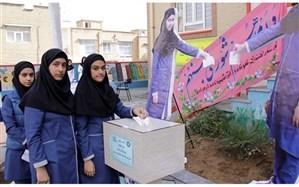 بیست و یکمین دوره انتخابات شوراهای دانش آموزی در مدارس استان کردستان برگزار شد